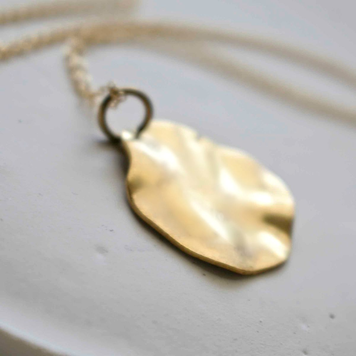 Wavy Disc Necklace - product images  of