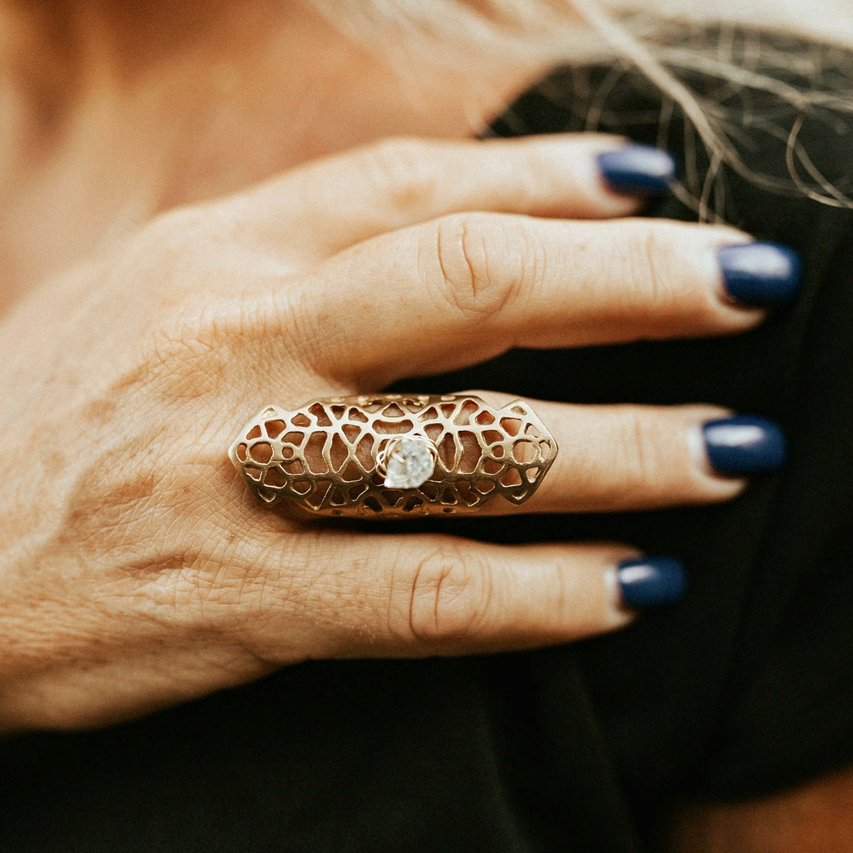 Herkimer Filigree Ring - product image