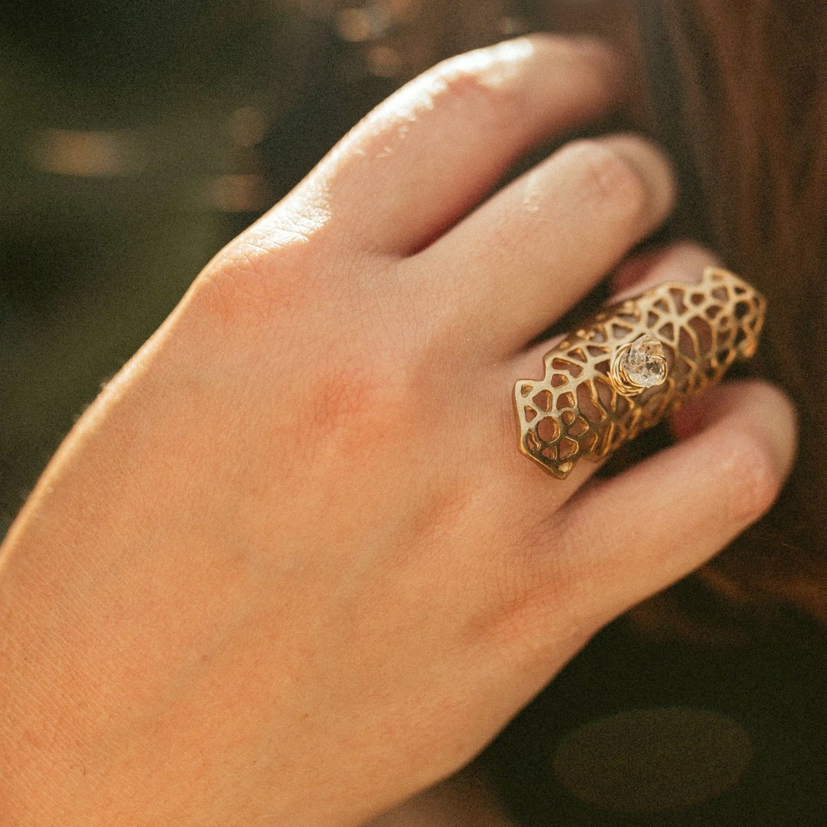 Herkimer Filigree Ring - product images  of