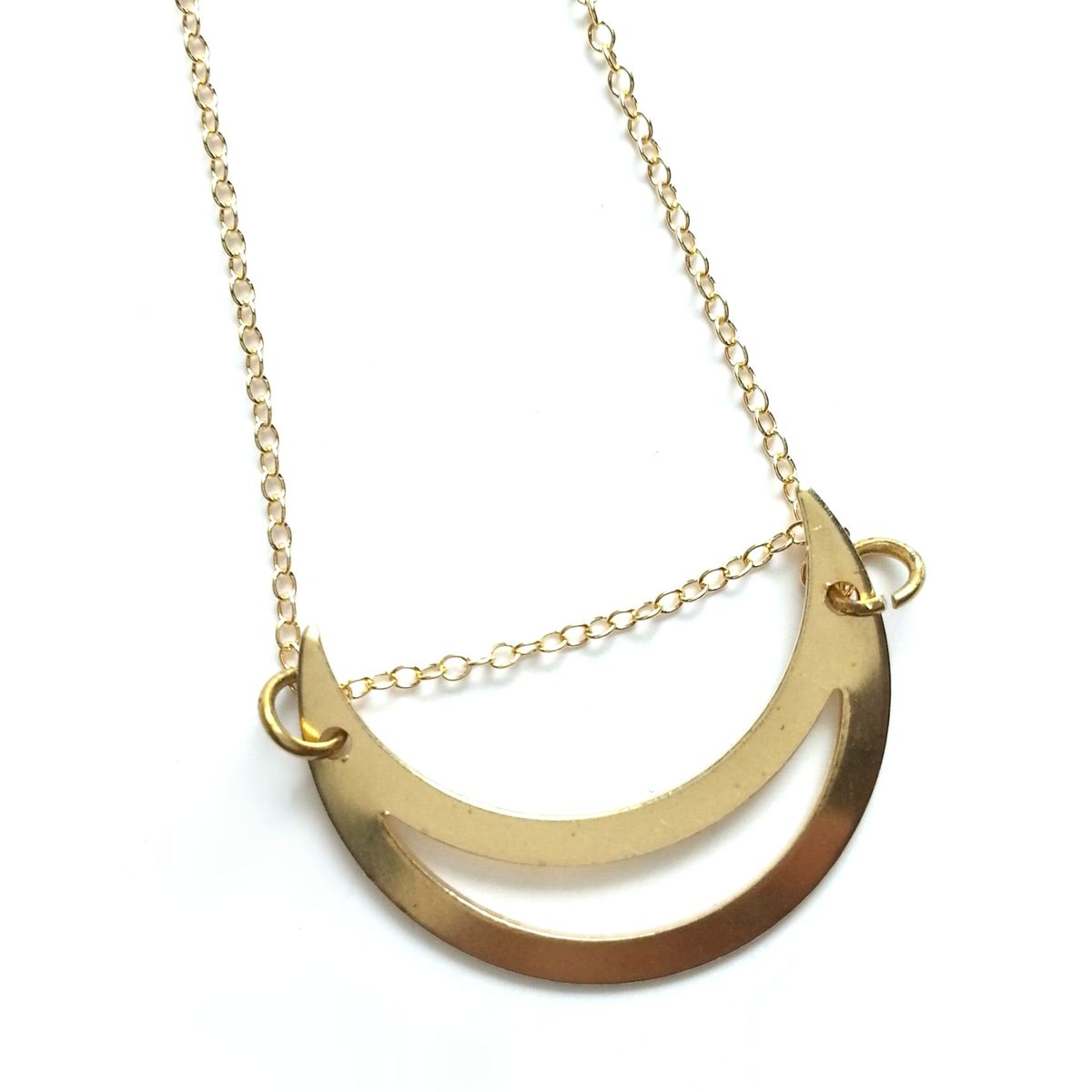 Split Crescent Moon Necklace - product image