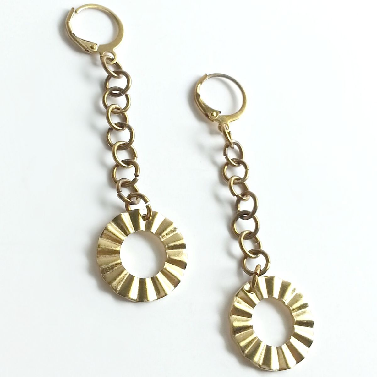 Ruffle Dangle Earrings - product images  of