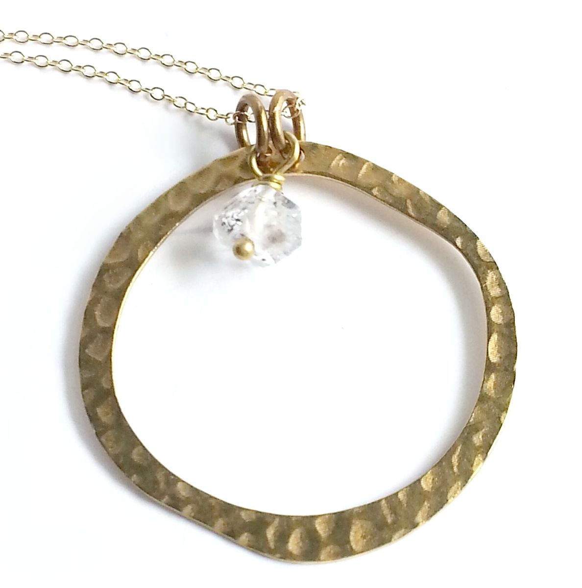 Open Circle with Herkimer Stone Necklace - product image
