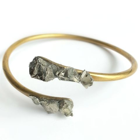 Pyrite,Cuff,Bracelet,patina, brass cuff, bangle, stacking bracelets, patina jewelry, diamond, herkimer