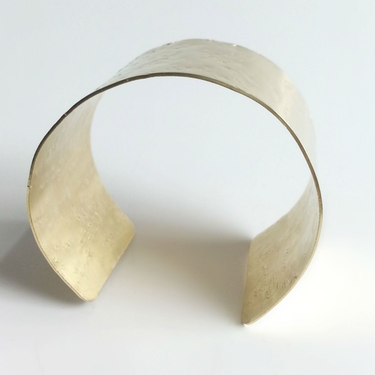 Wide Hammer Textured Cuff Bracelet  - product images  of