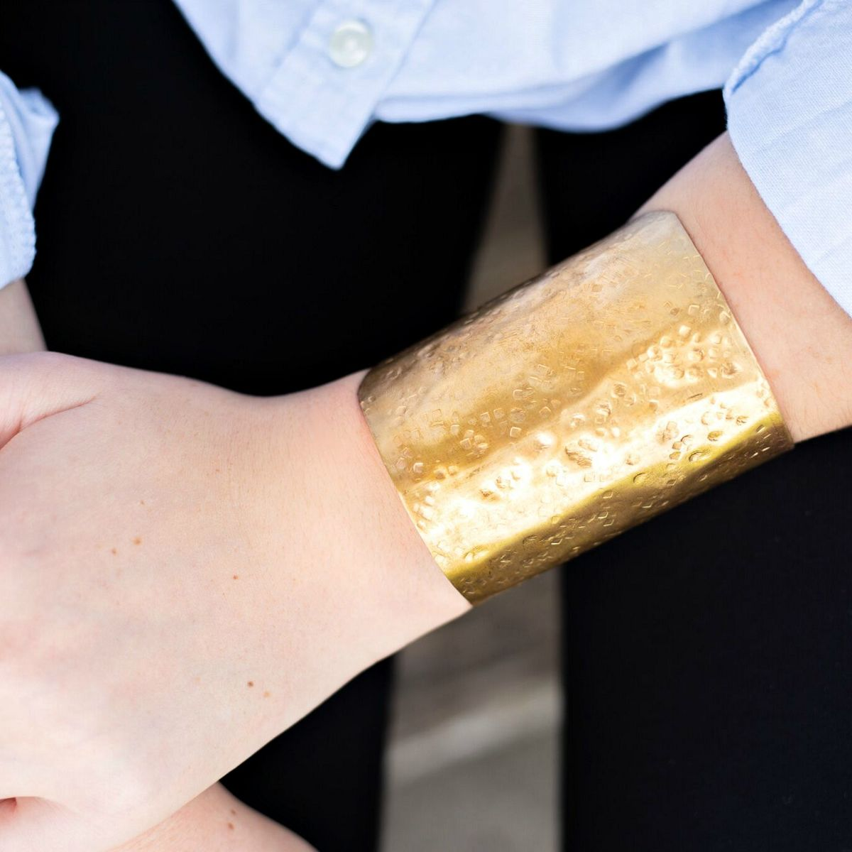 Tall Textured Cuff Bracelet  - product image