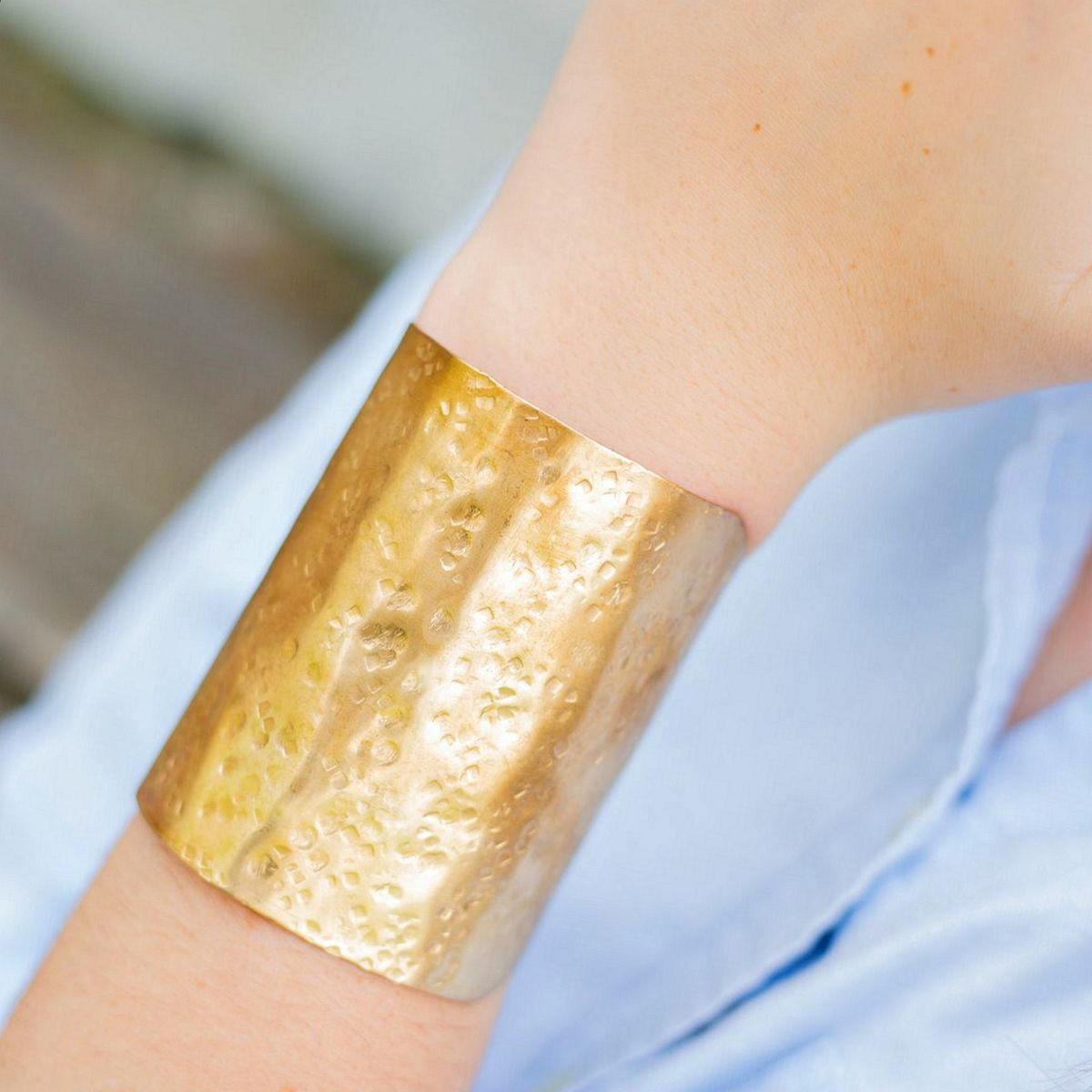 Tall Textured Cuff Bracelet  - product images  of