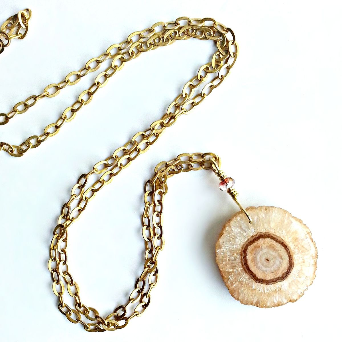 Long Agate Slice Necklace - product image