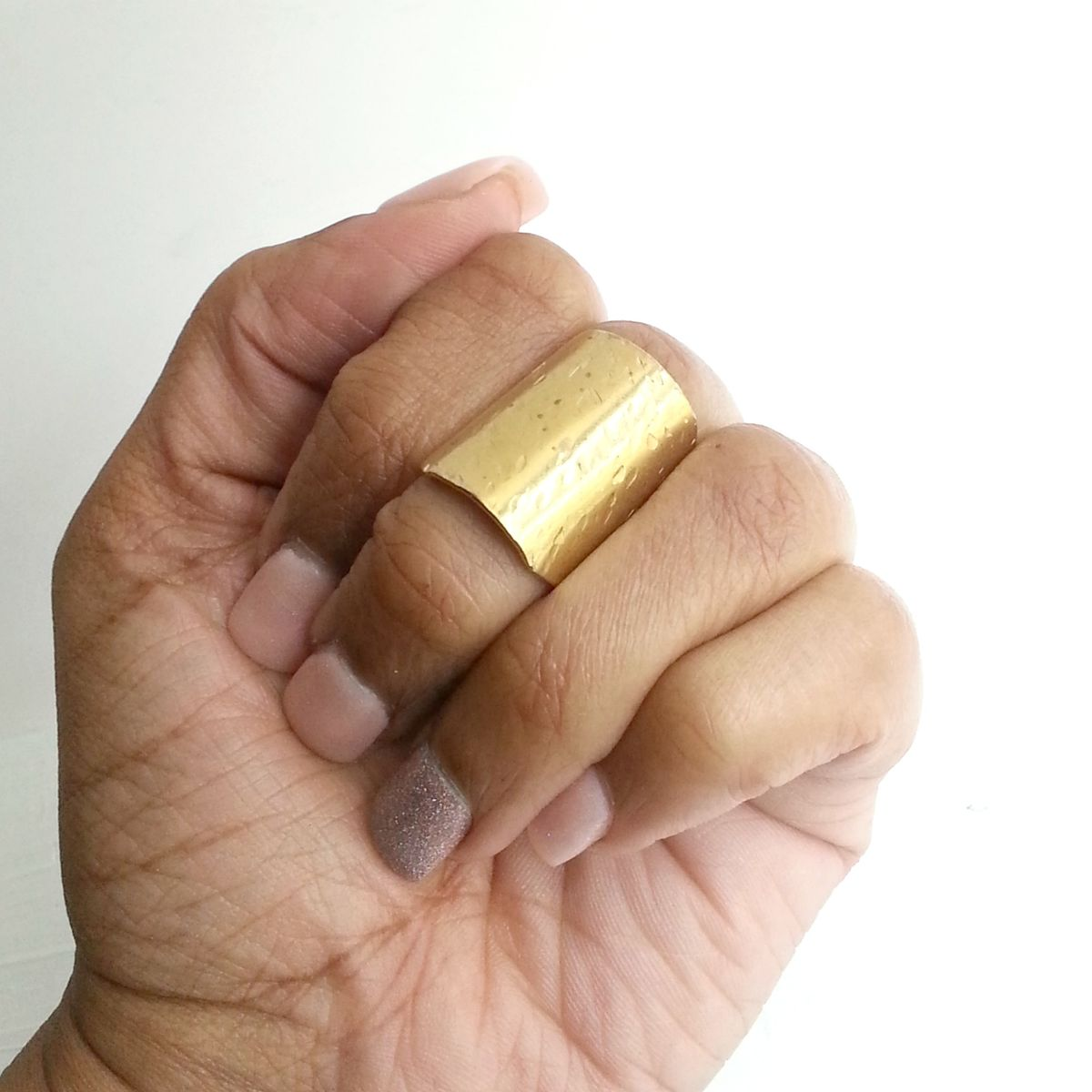 Short Hammer Textured Armor Ring - product images  of