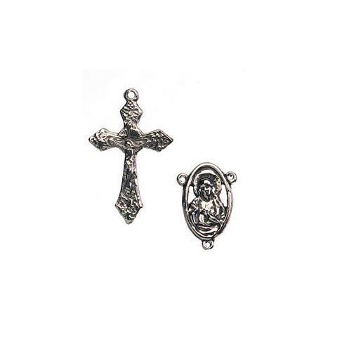 Rosary,Charm,Set,-,Full,Madonna,Silver,rosary charm set, silver,rosary,jewelry supplies,craft supplies,kg krafts
