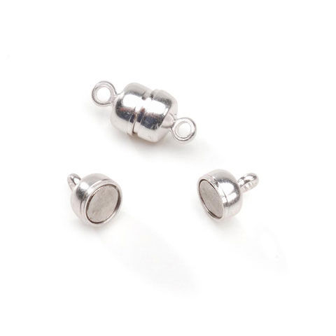 Magnetic Clasp - Silver - 5 x 11mm - product image