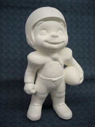 Provincial Molds Smiley Football Player in ready to paint ceramic bisque - product images
