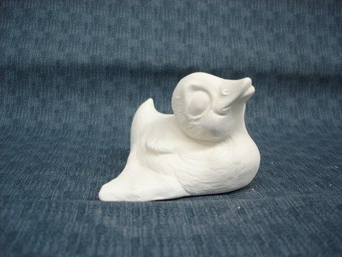 Squat Duck unfinished Ceramic Bisque Ready to Paint - product images