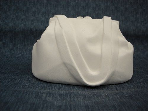 Money Bags Purse Bank Ready to Paint Ceramic Bisque - product images