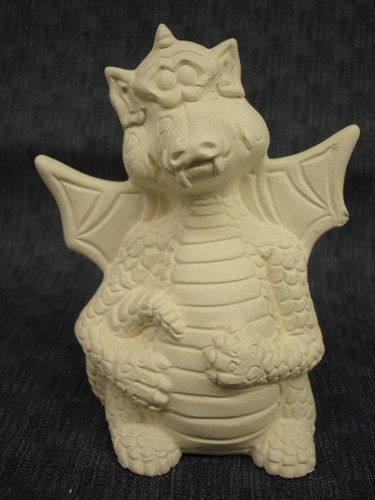 Jolly Dragon Ceramic Ready to Paint Bisque - product images