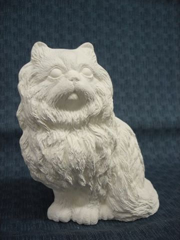 Persian,Cat,Unpainted,Ceramic,Bisque,ceramic bisque,ready to paint,ceramics, bisque,kg krafts,perisan,cat,kitty