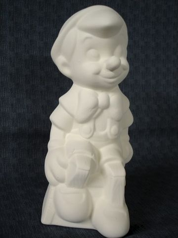 Pinocchio,Unpainted,Ceramic,Bisque,ready,to,paint,ceramic bisque,ready to paint,ceramics, bisque,kg krafts,pinocchio,walt disney,disney,gare molds,jodi molds