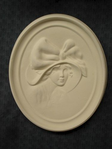 1920's Cameo Ceramic Bisque Flapper Ready to Paint  - product images