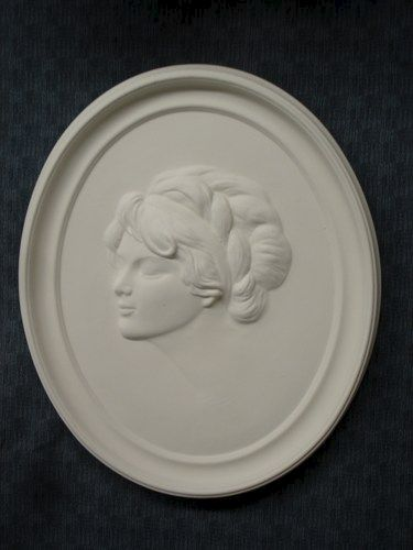 1920's Lady Plaque in Ready to Paint Ceramic Bisque - product images