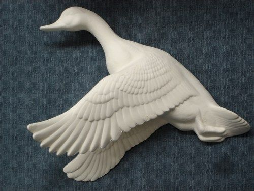 Flying Mallard Duck Ready to Paint Ceramic Bisque - product images