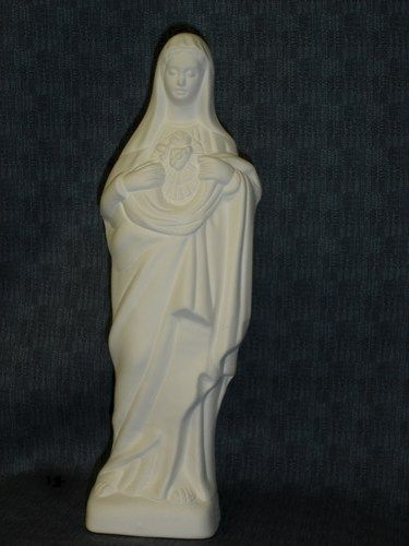 Sacred Heart Of Mary Ceramic Bisque Ready to Paint - product images