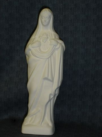 Sacred,Heart,Of,Mary,Ceramic,Bisque,Ready,to,Paint,ceramic bisque,ready to paint,ceramics, bisque,kg krafts,mary,sacred heart of Mary,religious