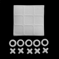 Tic Tac Toe Game Unfinished Ceramic Bisque - product images