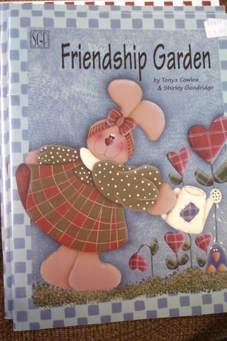 Friendship,Garden,by,Tonyn,Cowles,&,Shirley,Goodridge,Home decor,friendship garden, tonya cowles,shirley goodridge,painting,decorative arts,kg krafts