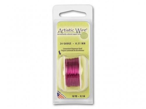 20 ga Silver Plated Artistic Wire Choose Your Colors 6 yd dispr pak - product image