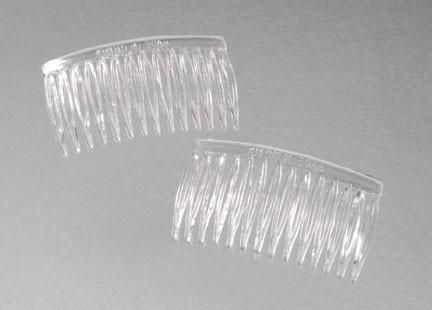 Hair Comb Clear 12 piece pack - product images