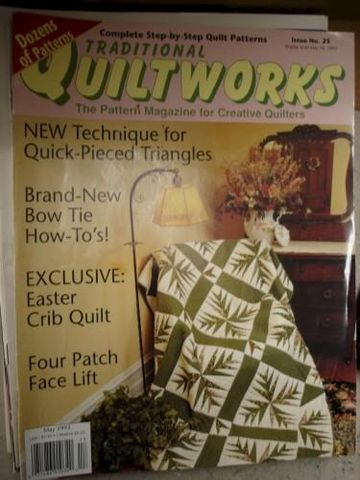 Traditional,Quiltworks,Issue,25,May,1993,quilting, patterns, quiltworks, cotton, magazine,quilts,kg krafts