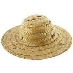 Straw Doll Hats 3 inch   6pc package - product images