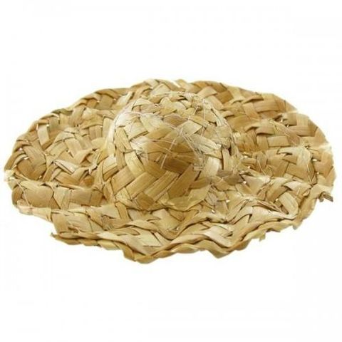 6,inch,Wavy,Brim,Straw,Hat,for,the,best,Dressed,Doll,wavy brim straw hat, doll making, craft supplies,straw