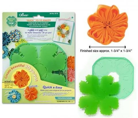 Quick,Yo-Yo,Maker,Shamrock,Shape,Large,clover, yo yo's, fabric,craft supplies,kg krafts