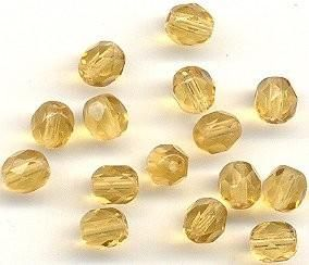 5mm Fire Polished Bead - Topaz 100 pcs - product images