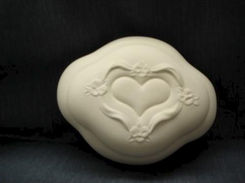 Unpainted Ceramic Soft Sculpted 2 pc Box - product images