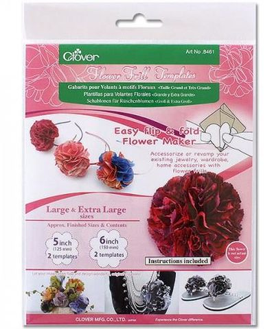 Flower,Frill,Templates,Large,and,Extra,plastic,clover, flower, frills, flower frills, kgkrafts