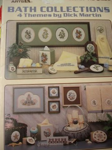 Bath,Collection,Cross,Stitch,by,Martin,for,Leisure,Arts,cross stitch, dick martin, bath collection,kg krafts,counted cross stitch,leisure arts, leaflet 410