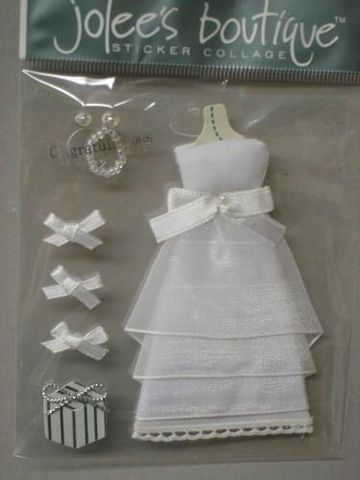 Bridal,Stickers,by,Jolees,Boutique,fabric,glue,metal,ribbon,paper,stickers, , cards, embellishment, scrapbooking, Jolee's boutique
