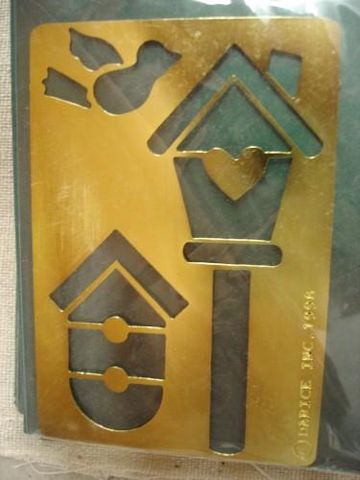 Darice,Genuine,Brass,Embossing,Stencil,Bird/Birdhouses,1020-20,darice,brass,stencil,embossing stencil,embossing,kg krafts, card making, scrap booking