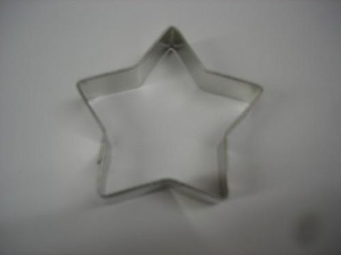 Three,Inch,Metal,Star,Cookie,Cutter,Three Inch, Metal , Star, Cookie Cutter, christmas,cookies,baking supplies,kitchen