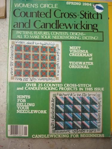 Womens Circle Counted Cross Stitch and Candlewicking     Spring 1984 - product images