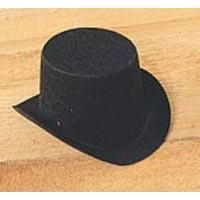 Darice Doll Clothing Felt Top Hat 3inch Black  pak of six - product images