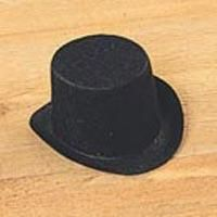 Darice,Black,Felt,Top,Hat,2,inch,pak,of,Six,darice, black, top hat, felt hat,craft supplies,crafts,snowmen,doll making