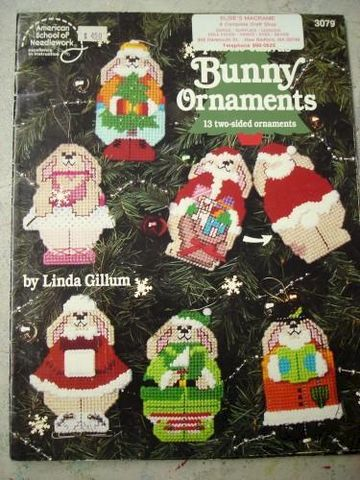 Bunny,Ornaments,for,Plastic,Canvas,by,Linda,Gillum,plastic canvas, bunnies, bunny, ornaments,crafts pattern,needlepoint,needlework,kg krafts
