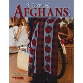 A,Year,of,Afghans,Book,15,Knit, crochet, afghans, leisure arts, annis clapp, book 15,kg krafts,a year of afghans bk 15