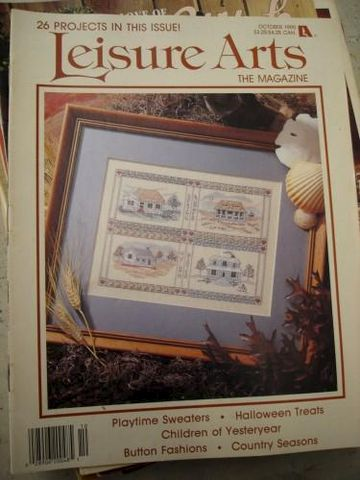 Leisure,Arts,October,1990,cross ststch, patterns, leisure arts, kg krafts