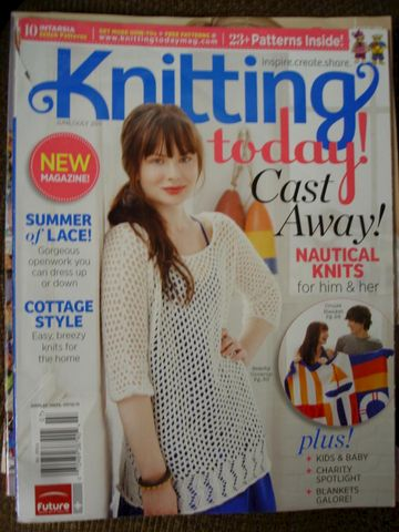 Knitting,Today,Cast,Away,June/July,2011,knitting, crochet, knitting today, magazine, nautical, blanket, sweaters, scarf, dress