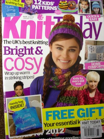 Knit,Today,January,2012,Bright,and,Cosy,Knits,Knit Today, January 2012, Bright, Cosy Knits for Kids and adults, toys, sweaters, knit, crochet, patterns, instrcutional