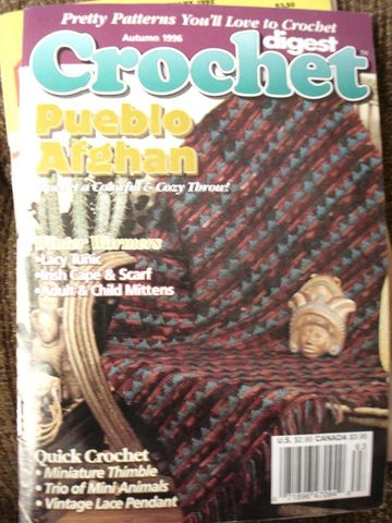 Crochet,Digest,Autumn,1996,Pueblo,Afghan,crochet digest, pattern, hat, bedspread, baby, tablecloths, knit, thread crochet