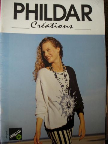 Phildar,Creations,Knitting,Magazine,no,244,Phildar Creations Knitting Magazine no 244  cable sweaters, intrasia  knitting, beautiful, fashions, Men, Women,kg krafts